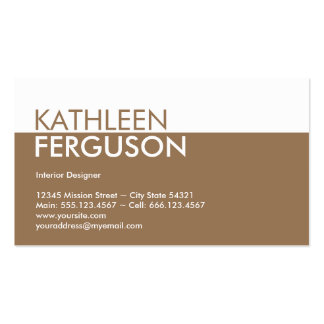 Standard two tone color block brown professional business card