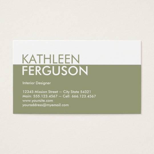 Standard two tone color block green professional business card standard two tone color block green professional business card reheart Images