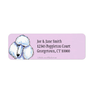 Standard White Poodle Simply Thistle Label