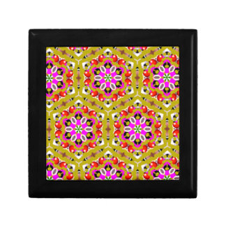 standard with flowers geometric forms trinket boxes