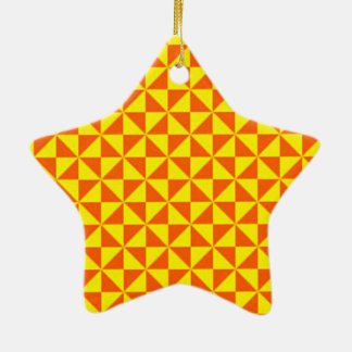 standard with geometric forms ceramic ornament