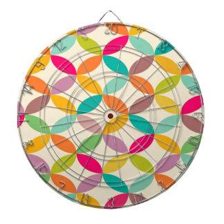 standard with geometric forms dartboard with darts
