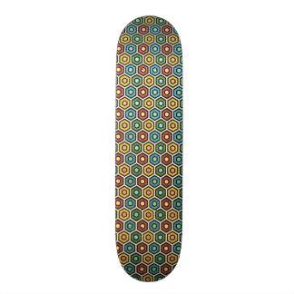 standard with geometric forms skate board decks