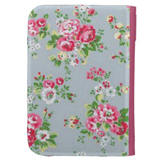 standard with roses kindle folio case