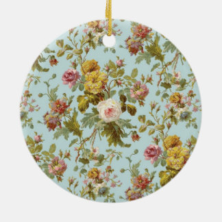 standard with roses ceramic ornament
