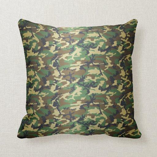 Standard Woodland Camo Throw Pillows Zazzle