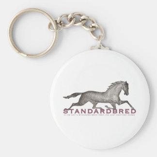 Standardbred Basic Round Button Keychain