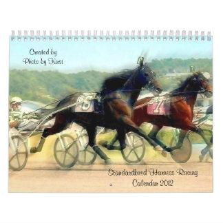 Standardbred Harness Horse Racing Calendar 2012