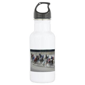 Standardbred Harness Race Last Turn Water Bottle