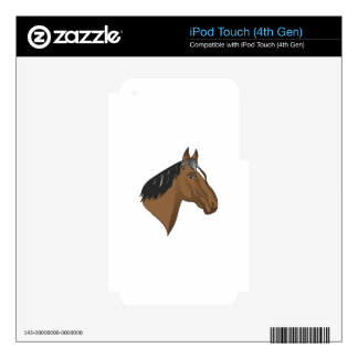 Standardbred Head iPod Touch 4G Decals