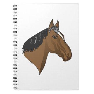 Standardbred Head Spiral Notebook
