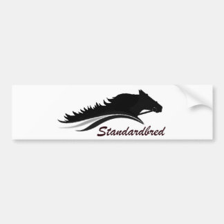 Standardbred Horse Bumper Sticker