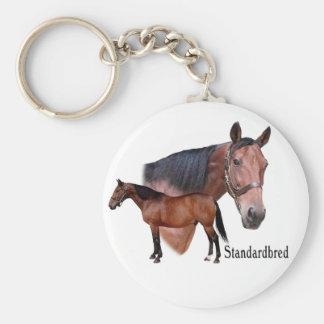 Standardbred Horse Keychain