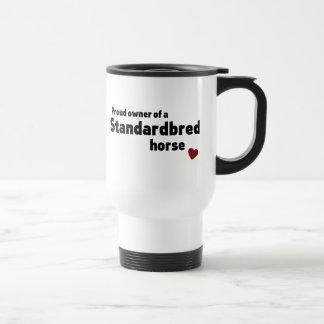 Standardbred horse 15 oz stainless steel travel mug
