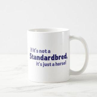 Standardbred horse classic white coffee mug