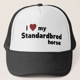 Standardbred horse trucker hat