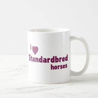 Standardbred horses classic white coffee mug