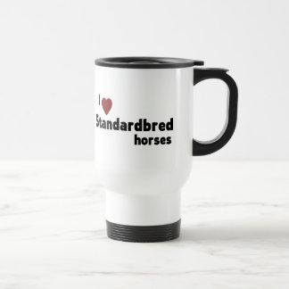 Standardbred horses 15 oz stainless steel travel mug