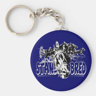 Standardbred Racing Basic Round Button Keychain