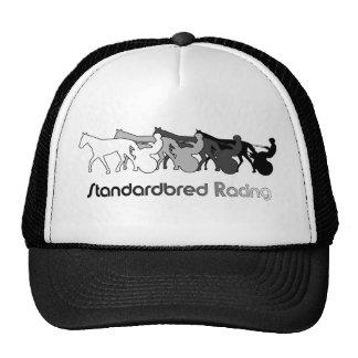 Standardbred Racing Silhouette Trucker Hats