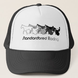 Standardbred Racing Silhouette Trucker Hat