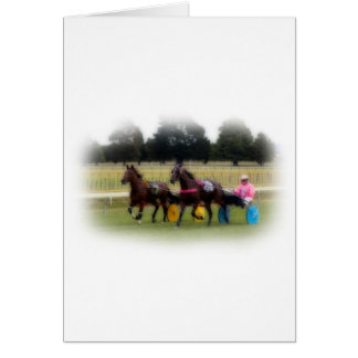 Standardbreds at the Racetrack Card