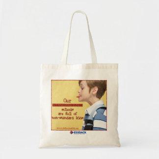 Standardized schools...non-standard kids tote bag