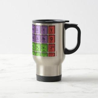 Standart model of elementary particles travel mug