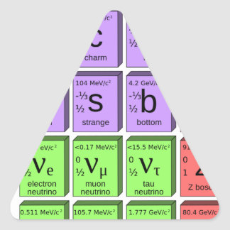 Standart model of elementary particles triangle sticker