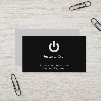 Standby symbol on off button square business card zazzle colourmoves
