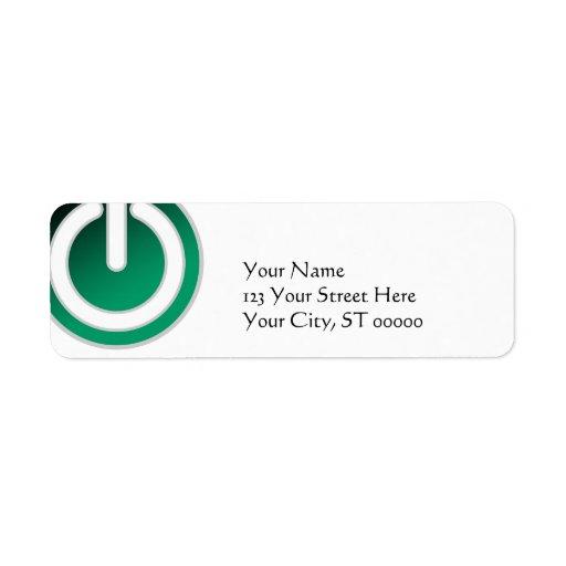 Standby On/Off Power Switch Return Address Label