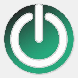 Standby On/Off Power Switch Round Sticker