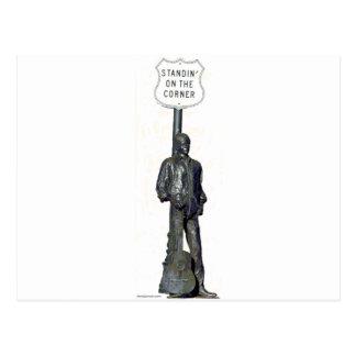 "Standin' on ""THE"" Corner! in Winslow Arizon Postcard"