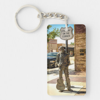 Standin' On The Corner in Winslow, AZ. Keychain