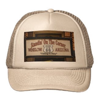 Standin' On The Corner in Winslow, AZ. Trucker Hat
