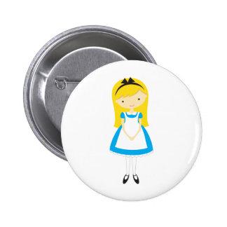 Standing Alice in Wonderland Pinback Button