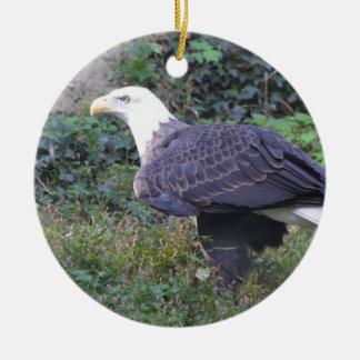 Standing American Bald Eagle Ceramic Ornament