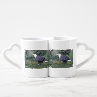 Standing American Bald Eagle Coffee Mug Set