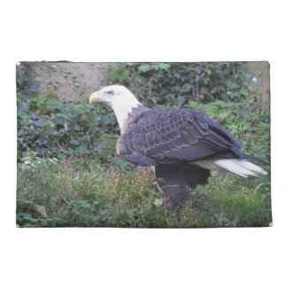 Standing American Bald Eagle Travel Accessory Bag