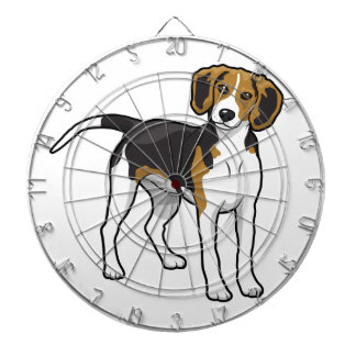 Standing Beagle Dartboard With Darts
