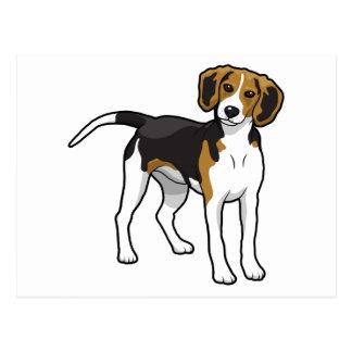 Standing Beagle Postcard