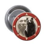 Standing Bear Pinback Button
