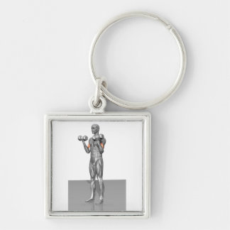 Standing Biceps Curl 2 Keychain