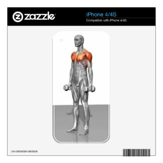 Standing Biceps Curl Skins For iPhone 4S