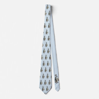 Standing Black and White Penguin Neck Tie