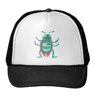 Standing Blue and Red Cartoon Fly with Arms Out Trucker Hat