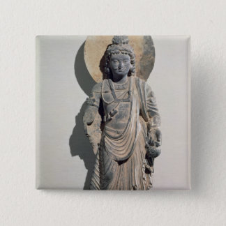 Standing Bodhisattva Maitreya, 3rd century Pinback Button
