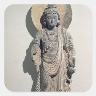 Standing Bodhisattva Maitreya, 3rd century Square Sticker