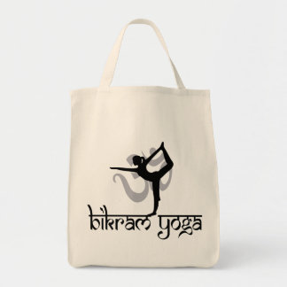 Standing Bow Pulling Pose Bikram Yoga Gift Tote Bags