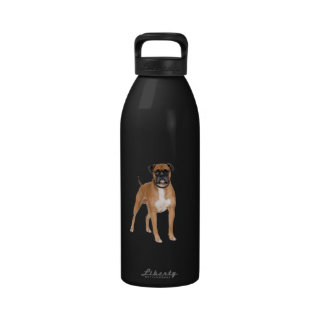 Standing Boxer Dog Water Bottle